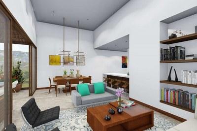 Interior design in new apartments for sale in Cumbayá, Quito