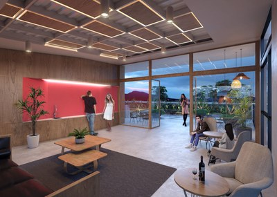 Common area with views of Quito