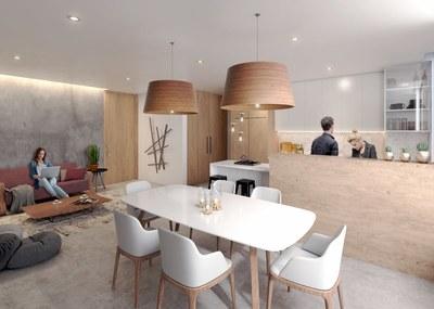 Living area- Apartment for sale in La Carolina, Quito