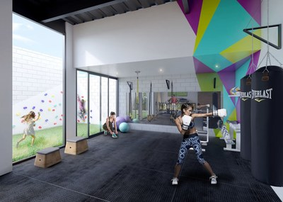 Fully equipped gym in apartments for sale in Quito, Ecuador