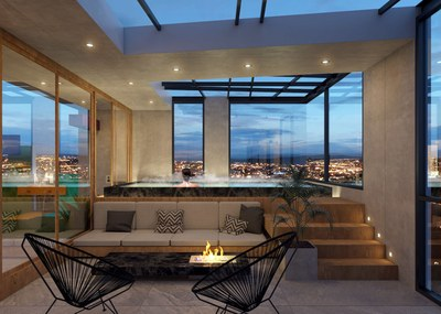 Interior Jacuzzi in completely new apartments for sale in la Carolina, Quito