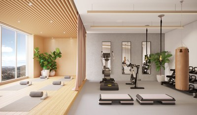 Gym area in completely new apartments in Quito