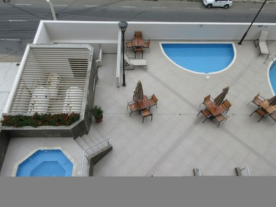 View Of Pool Area From Balcony