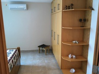 Bedroom Shelving And Air Conditioner