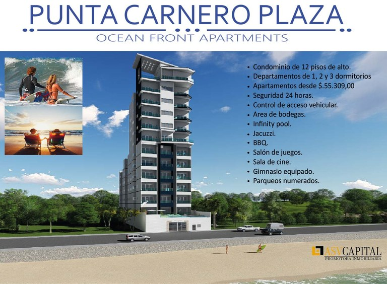 PUNTA CARNERO PLAZA: Oceanfront Condominium For Sale in Punta Carnero