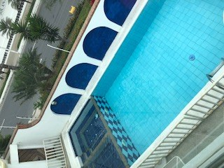 View Down To Pool From Upstairs Balcony