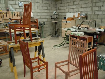 Making Dining Room chairs in Shop