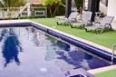 Relaxing pool area.